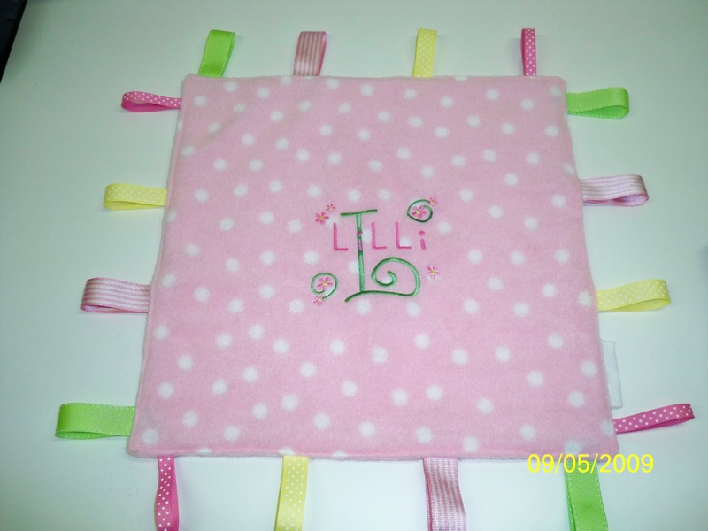Girl's Personalized Ribbon Blanket