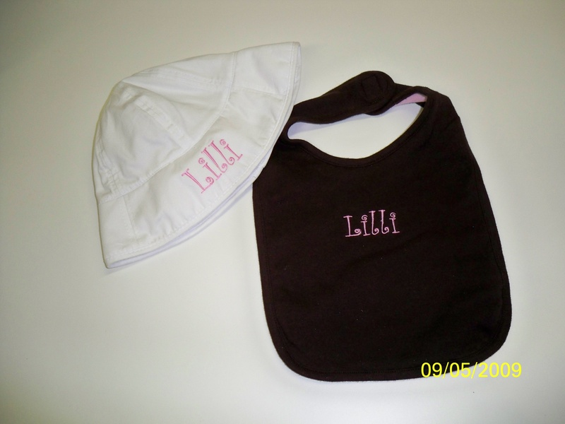 Baby Bucket hat and bib